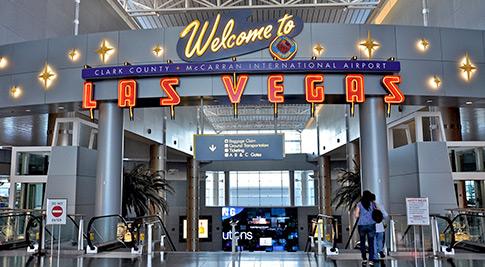 Jumlah penumpang bandara Las Vegas naik secara signifikan bulan lalu